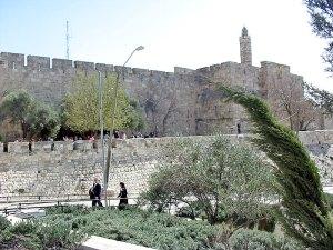 La muralla de la Ciudad Vieja en Jerusalén Este