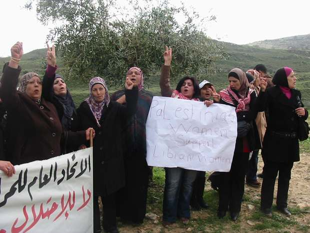 """""""Las mujeres palestinas en solidaridad con las mujeres de Libia"""""""