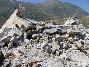 La escuela demolida en diciembre 2010