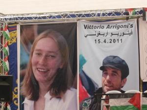 Memorial de Bil'in por Rachel Corrie y Vik Arrigoni, asesinados en Gaza