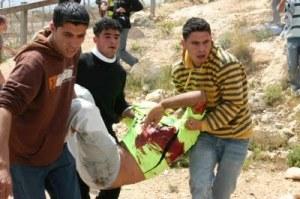Bassem Abu Rahmah (31), de Bil'in, asesinado por el ejército israelí el 17/4/09 (Australians for Palestine)