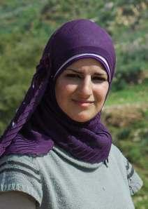 Sirene Jus, activista del Jordan Valley Solidarity en Ein al-Hilwa (Petter Lyden, febrero 2011)
