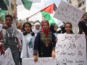 Manifestación el día de la Nakba en Ramallah (15/5/11)