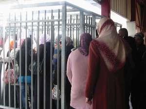 Checkpoint de Qalandiya, entrada a Jerusalén (marzo 2011)
