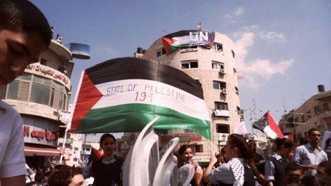 Manifestaciones en la plaza Al-Manara de Ramallah (B.Siqueira)