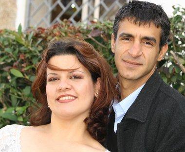 leis racistas: Lana y Taiseer Khatib (foto de familia publicada por NBC News)