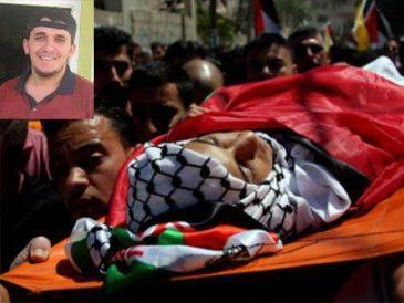 Arafat Jaradad (30), de Hebrón, muerto en la tortura el 23 de febrero (Activestills)
