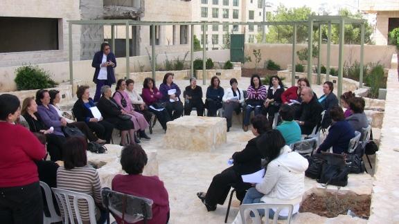 Reunión de discusión del documento Kairós Palestina con sectores de la sociedad civil palestina.
