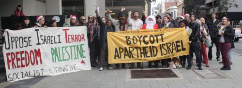Acción de BDS en Australia, Navidad 2011 (FOPWA)
