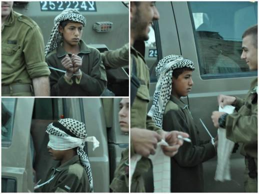 Niño palestino arrestado en Hebrón en noviembre (EAPPI).
