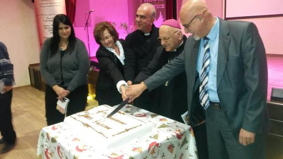 Integrantes de Kairos Palestina celebran su 4º aniversario (KP).