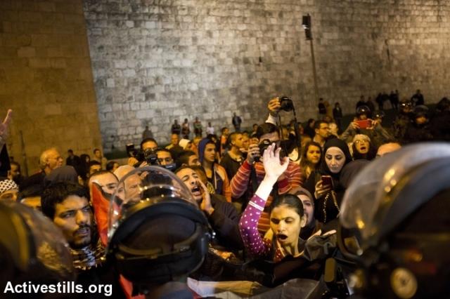 Frente a la Puerta de Damasco, en Jerusalén Este