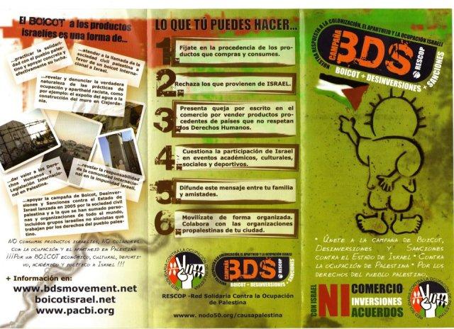 Tríptico de la RESCOP para promocionar el BDS.