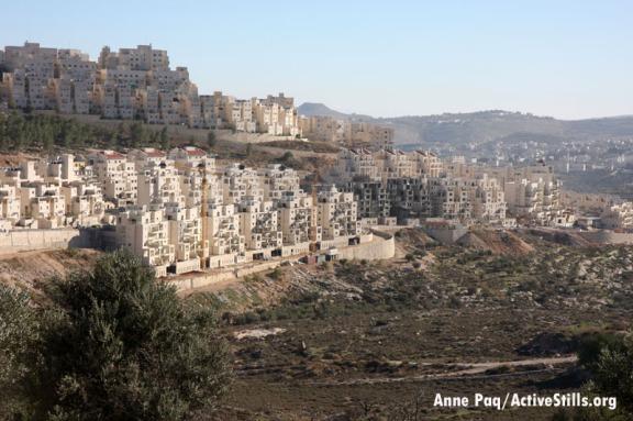La inmensa colonia judía Har Homa, cerca de Belén, en permanente expansión.