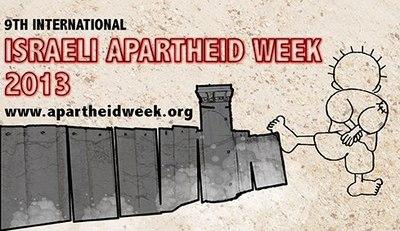 Poster de la Semana contra el Apartheid Israelí que se realiza todos los años en febrero-marzo en las universidades.