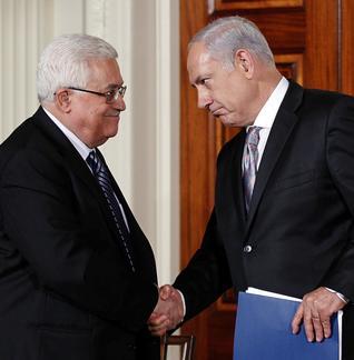 Abbas y Netanyahu en la Casa Blanca en 2010 (AP)