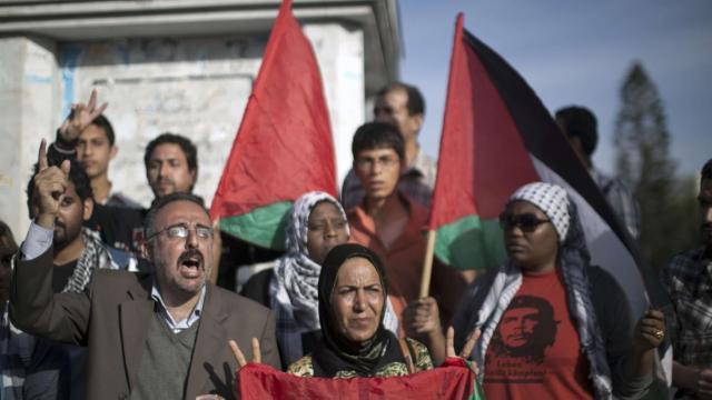 Celebraciones en Gaza después del acuerdo de unidad palestina (Mahmoud Hams, AFP/Getty Images)