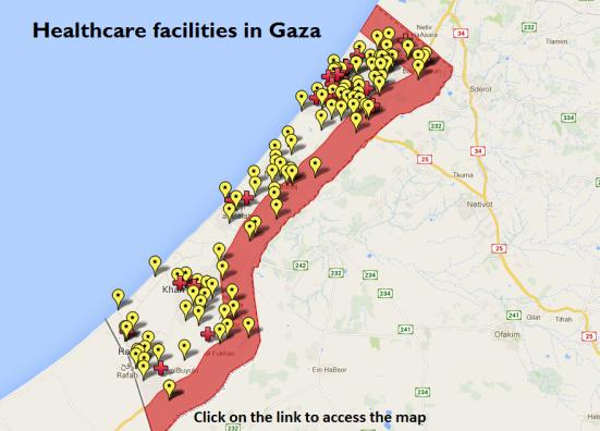 18 clínicas y hospitales han sido afectados por los bombardeos (UNOCHA)