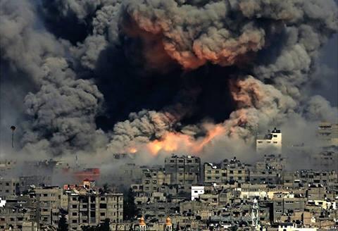 En el barrio de al-Tuffah, ciudad de Gaza, martes 29/7/14.
