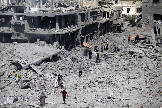 Imágenes de la destrucción en Gaza.