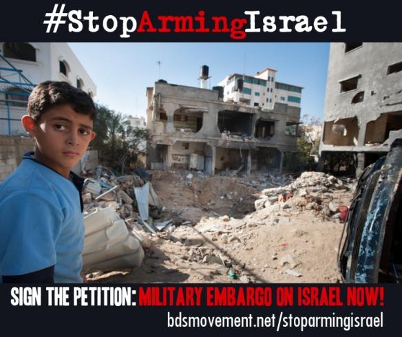 Firma por el embargo militar a Israel!