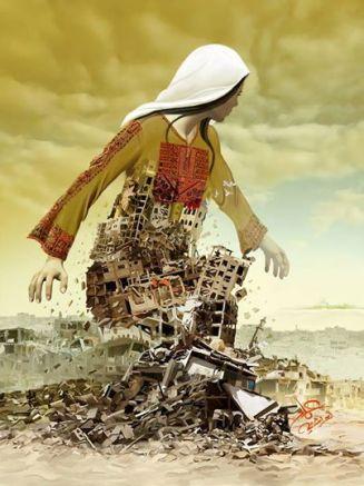 Obra del artista Imad Abu Shtayyah