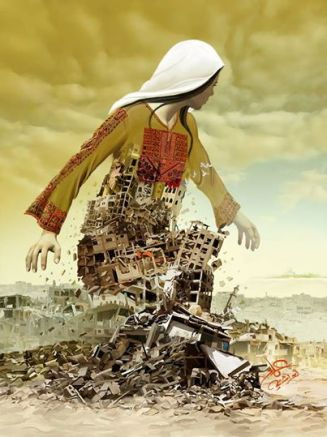 O trabalho de Imad Abu artista Shtayyah