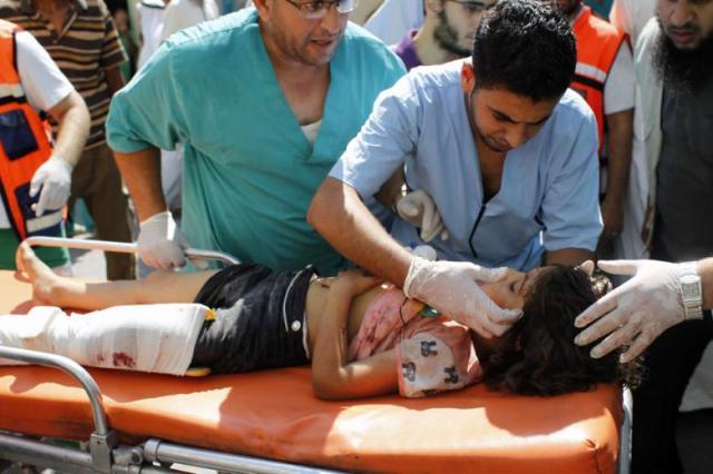 Rafah hospital, 2 de agosto. AFP Said Khatib
