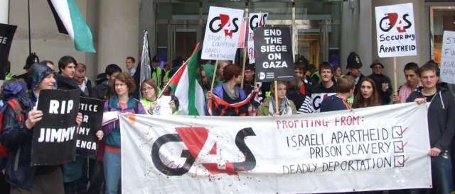 ondon protest against G4S security contracts with Israeli authorities  Stop G4s.org)