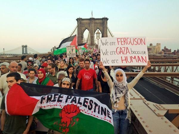 En el puente de Brooklyn, NY (Foto: Occupy Wall St.)