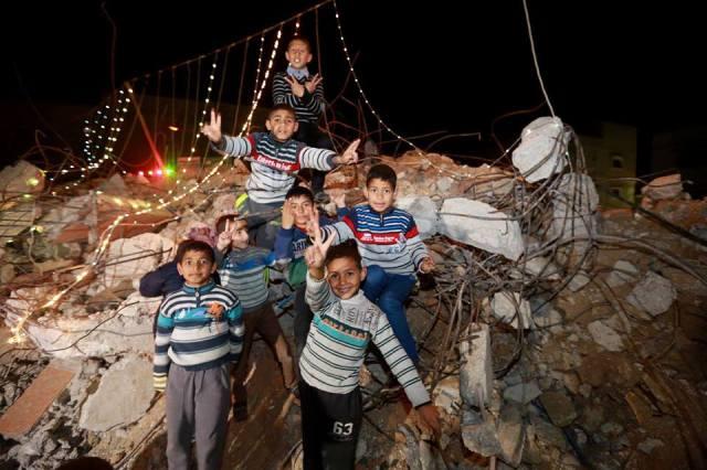 Fin de año en Gaza (foto sin crédito).