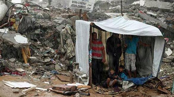 Invierno en Gaza (foto sin crédito).