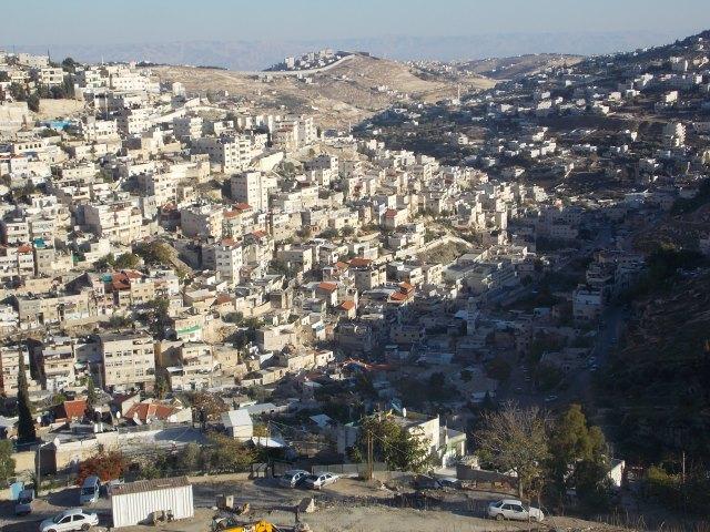 Parte de los barrios que componen Silwan, al sur de la Ciudad Vieja de Jerusalén.