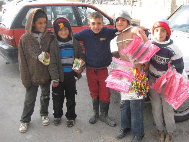 Algunos de los vendedores amigos de Tamar.