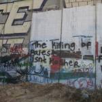 """Matar palestinos no es kosher"", dice el graffiti"