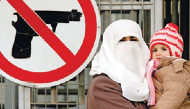 Randa y su hija M en 2012 (AFP)