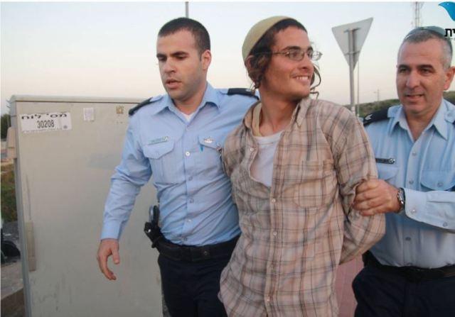 Meir Ettinger (nieto del siniestro rabino Meir Kahane y residente en Yitzhar, fue arrestado como principal sospechoso del ataque, pero hasta ahora sólo está siendo interrogado, no acusado (Imagen: Tazpit).