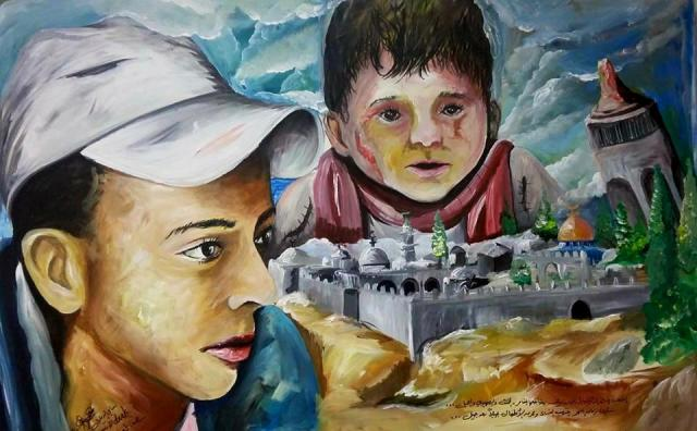 Mohammed y Ali. Dibujo de Sami Eldeek.