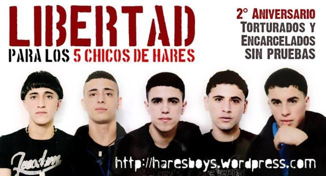 Poster conmemorando el 2º aniversario de la detención (marzo 2015).