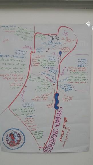 Incluso los sionistas liberales consideran que hay un solo estado. Éste es el mapa de la oficina del kibutz socialista Naaran, operado por el movimiento juvenil HaMahanot HaOlim.