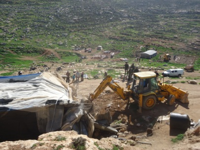 Demolición en Ein Al-Rashash (Nablus), 15/2/16. Fotos: EAPPI.