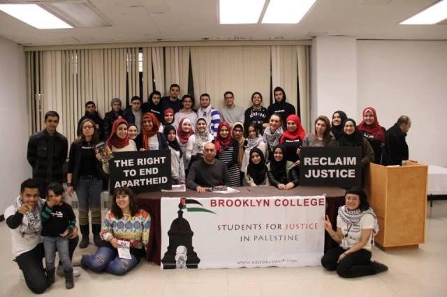 La rama del movimiento Students for Justice in Palestine del Brooklyn College defendiendo su derecho al BDS.