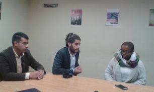 Reunión con sindicalistas del PIT-CNT en Montevideo (A.Aharonian).