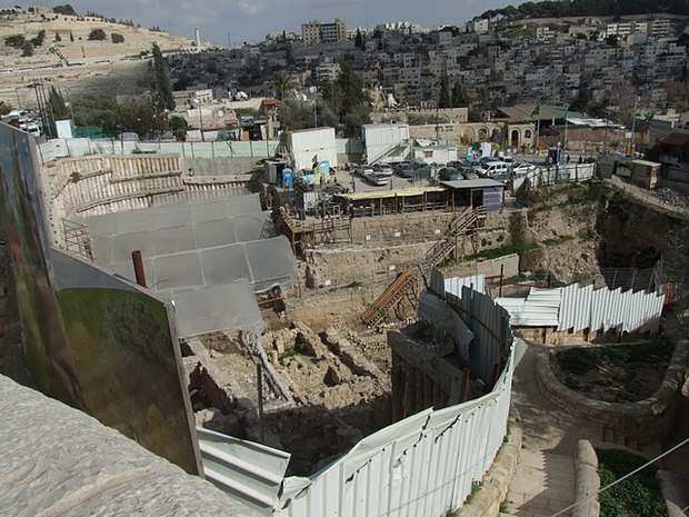 Excavaciones arqueológicas en Silwan, barrio palestino pegado a la Ciudad Vieja.