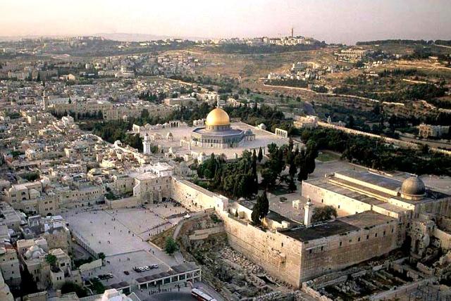 El complejo de las mezquitas, con la Cúpula de la Roca y Al Aqsa al frente. Tercer lugar más sagrado para el Islam en el mundo. (S/C).