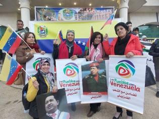 Concentración de apoyo a Venezuela en Ramala (marzo 2015, M.Landi).