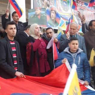 Concentración de apoyo a Venezuela en Ramala (marzo 2015, M. Landi).