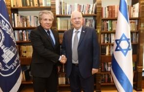Luis Almagro con Reuven Rivlin, Presidente del Estado de Israel.