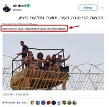 """Israelíes de un kibbutz cercano a Gaza disfrutan del """"mejor show en la ciudad"""" y celebran la masacre cometida por su ejército.."""