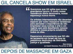 Mensaje del BDS palestino a Gilberto Gil